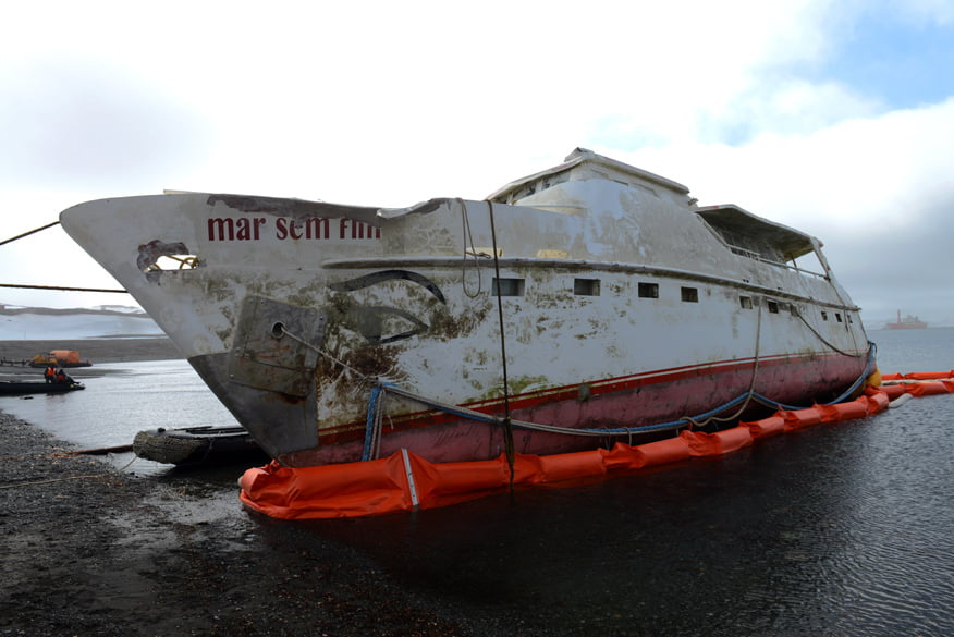 O barco hoje.