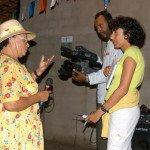 Jaci Rosa dos Santos, é a animadora maior do Lariô da Tartaruga, litoral norte de Sergipe.
