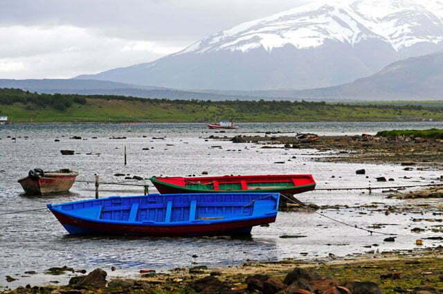 Barcos tradicionais em Puerto Natales