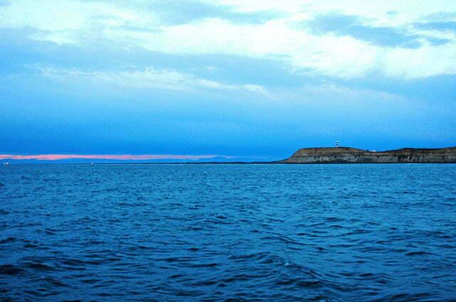 O Cabo Virgines, de madrugada