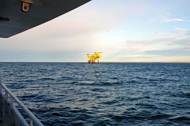 Petroleo extraído das águas do Estreito de Magalhães