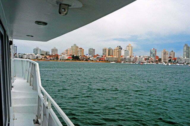 O Mar Sem Fim chegando em Punta del Este