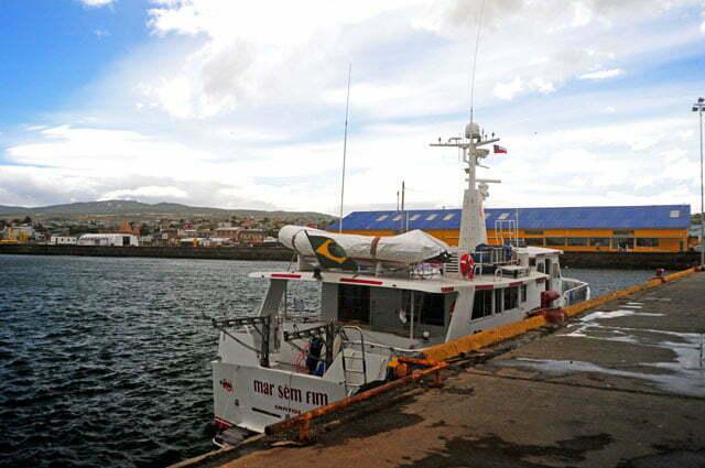 No cais de Punta Arenas
