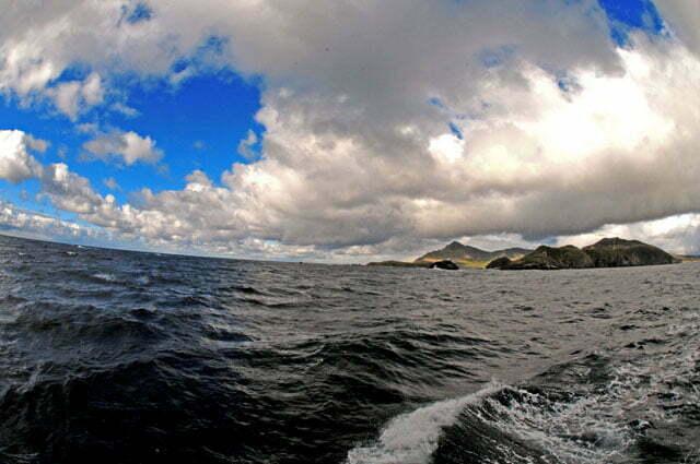 Vista geral da ilha de Hornos