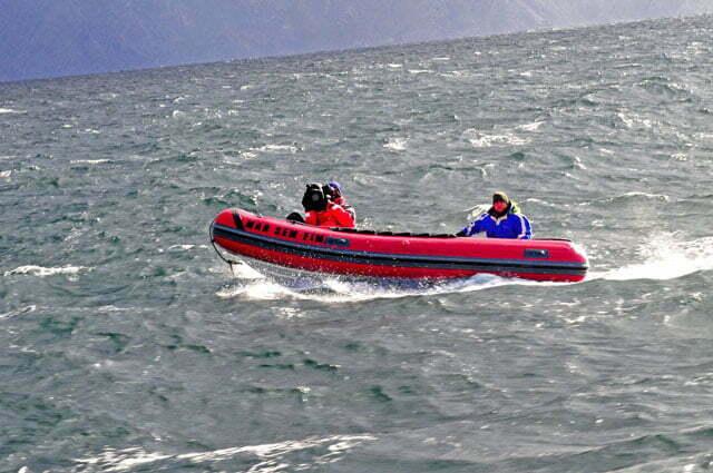 Eles cruzaram o Horn de bote...