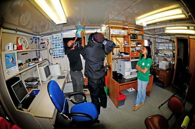 imagem do Laboratório do INPE na Estação Científica Comandante Ferraz