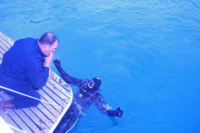 Eu mergulhei para checar o sistema de propulsão
