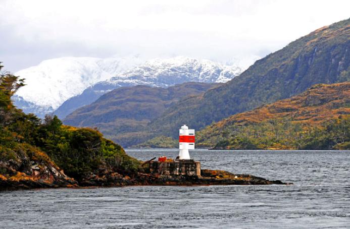 Viagem à Antártica, do Rio Grande para Punta Arenas , imagem dos canais da patagônia.