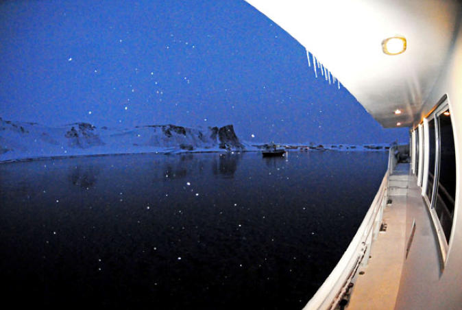 Viagem à Antártica: Ushuaia, Rei George, Ilhas Argentinas, imagem do convés do mar sem fim na antártica.