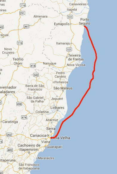 From Porto Seguro Abrolhos To Vitória ES Mar Sem Fim - Cabo de santo agostinho map