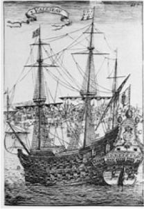 maior navio construido no Brasil, imagem de Gravura do navio Padre Eterno