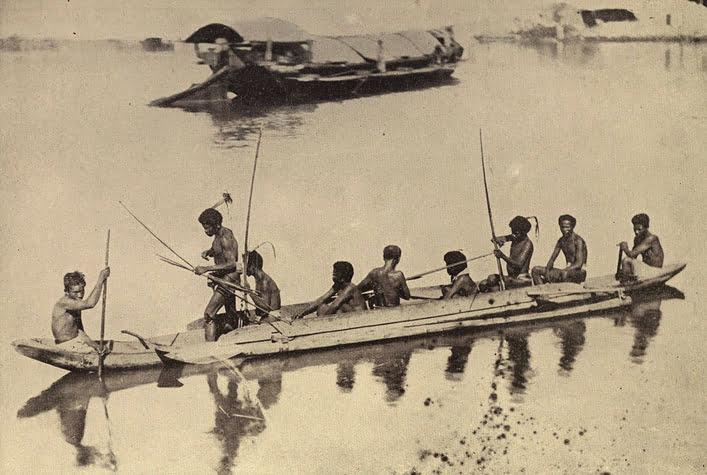 Projeto Vaka Taumako, imagem de antiga canoa-polinésia