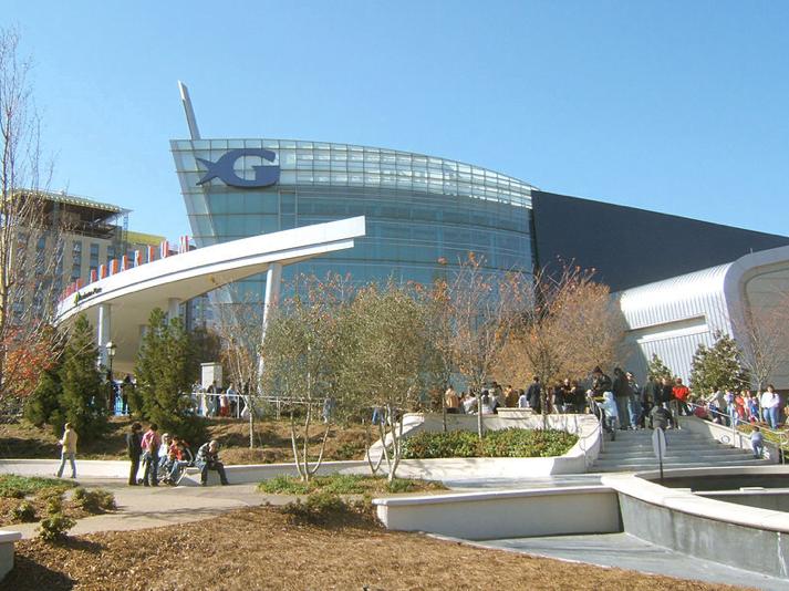 """""""Cid Gomes faz usina termelétrica no Ceará só para aquário"""", imagem da Sede do Georgia Aquarium, Atlanta, USA."""