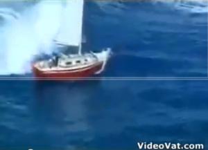 Resgate dramático no mar.