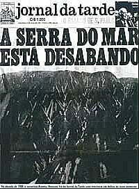 Capa do Jornal da Trade A Serra do Mar Está Desabando.