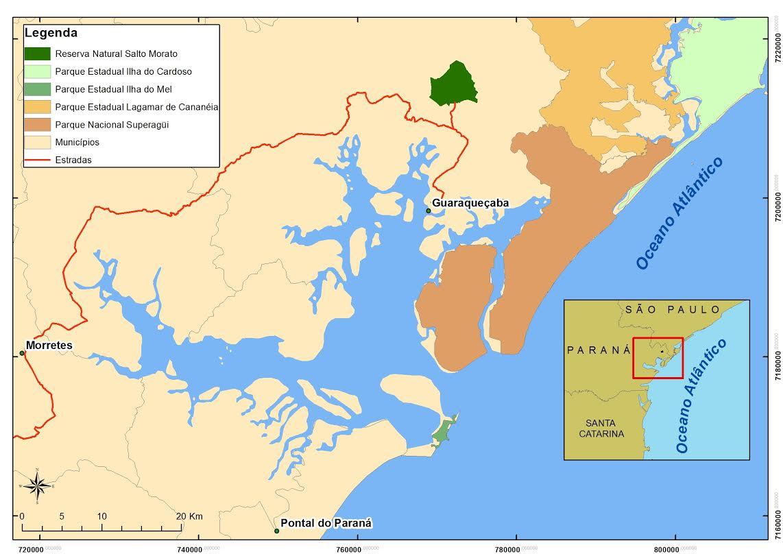 mapa reservas e parques estaduais