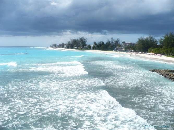 Barbados e o aumento do nível do mar, imagem Ilha paradisíaca Barbados
