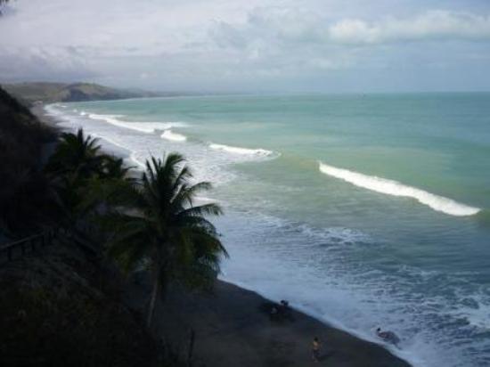 petróleo, imagem praia esmeraldas equador