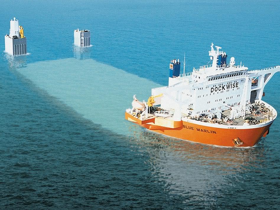 navio que transporta navios, imagem de navio que transporta navios submergindo