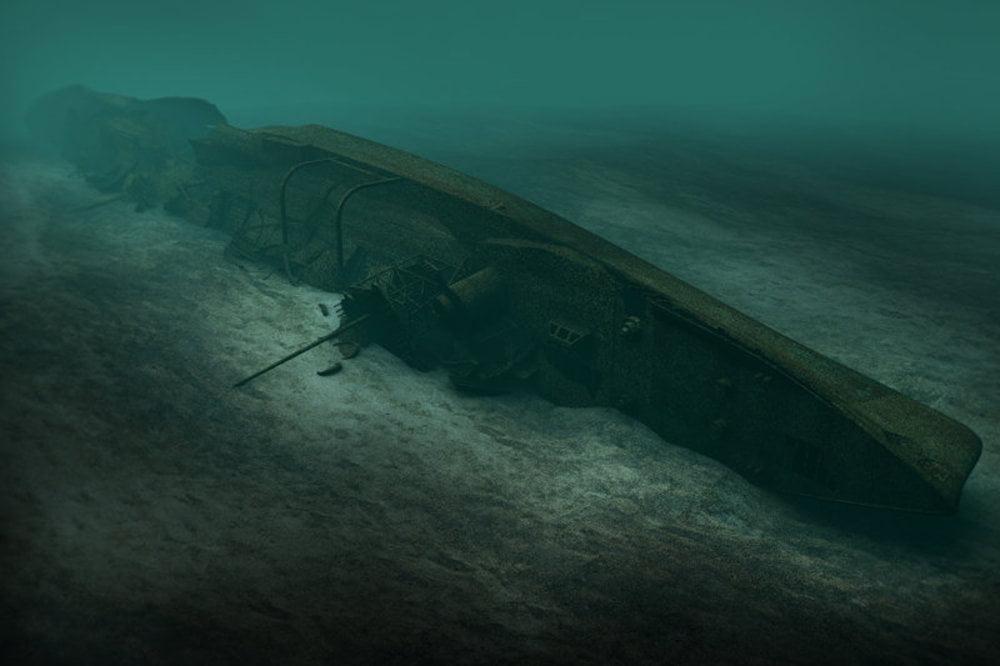 imagem naufrágio navio de guerra