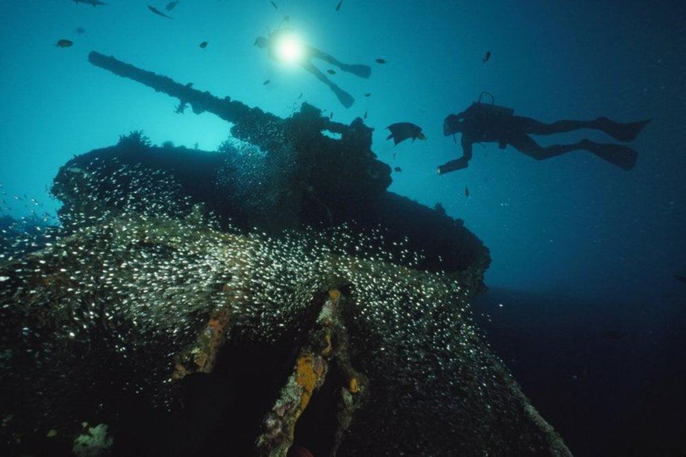 imagem naufrágio USS President Coolidge