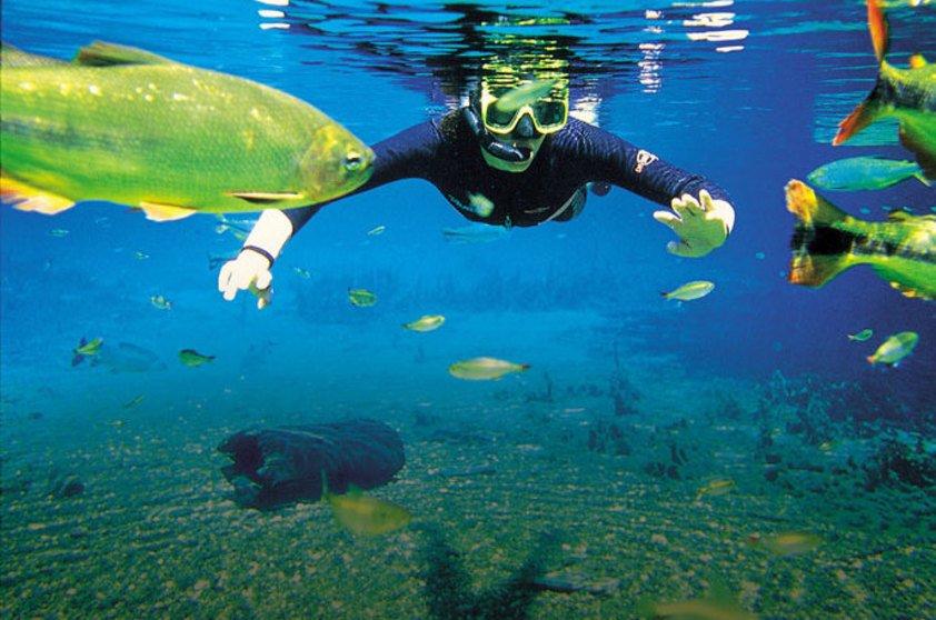 Turismo de aventura e ecoturismo e turismo sustentável, imagem de homem praticando turismo em rio