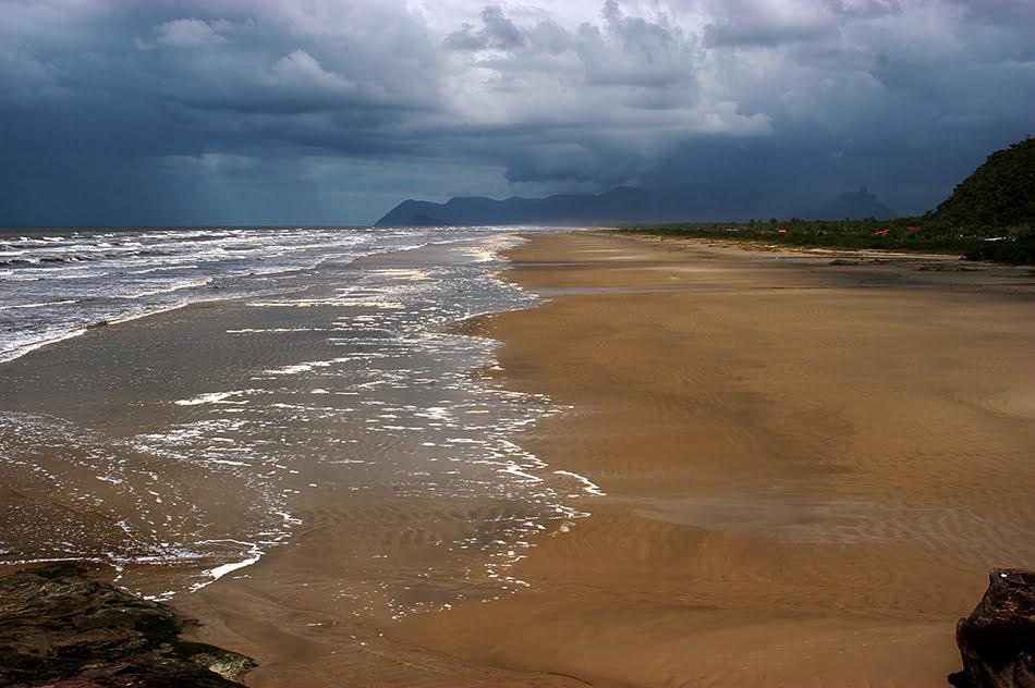 Arie Ilha do Ameixal e Mosaico Juréia- Itatins, imagem da-praia-do-Una-e-serra-da-juréia,Mosaico Juréia- Itatins.