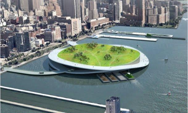 Ilhas de lixo orgânico, imagem ilha compostagem nova iorque