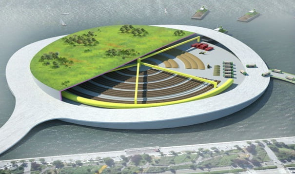 Ilhas de lixo orgânico, imagem de ilha de lixo orgânico em nova iorque