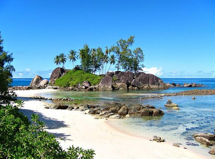 mudança no clima do Pacífico, imagem das ilhas seychelles