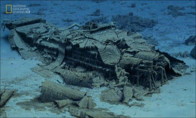 Fotos inéditas do Titanic, imagem de restos do Titanic naufragado