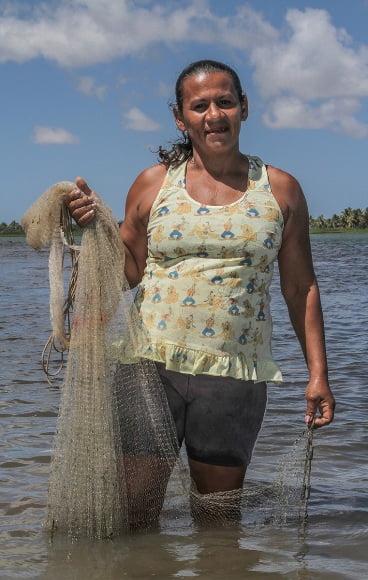 Mulheres na pesca artesanal, imagem Pescadora Dona Ana Maria