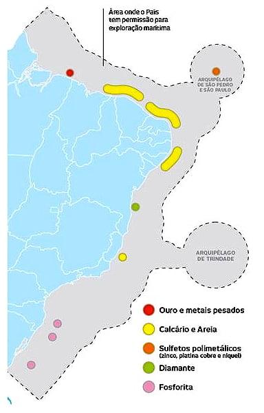 mapa da plataforma continental do brasil-e-recursos minerais marinhos