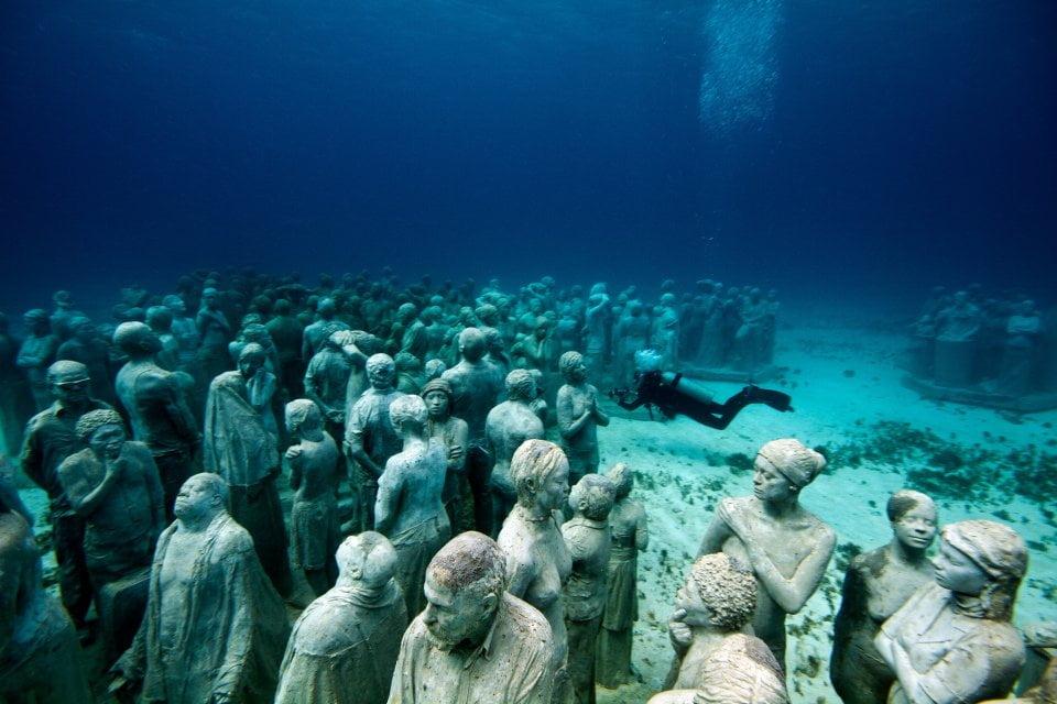 esculturas subaquáticas