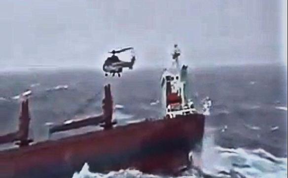 Navio em perigo: Resgate Dramático.