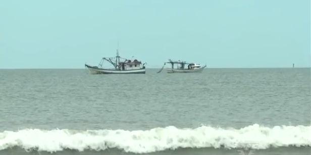 embarcações que fazem pesca de arrasto
