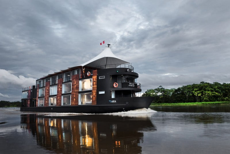 Hotel navio, imagem do navio Aria Amazon