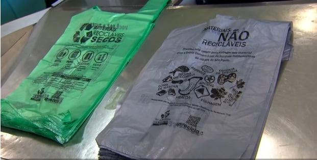 novas sacolas plasticas
