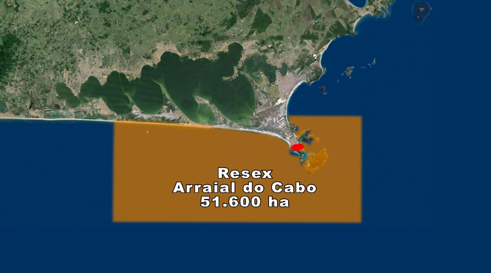Resex Arraial do Cabo, Rio de Janeiro, mapa da area-resex-arraial-do-cabo