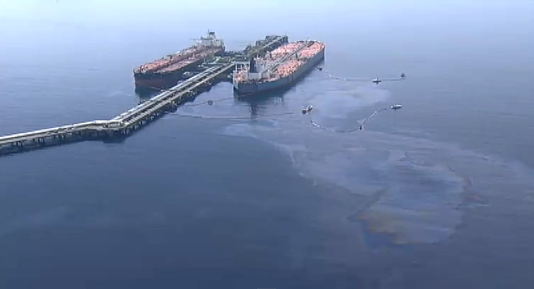 Vazamento de óleo da Transpetro , imagem de óleo-cru-na-baía-de-Ilha-Grande,Vazamento de óleo da Transpetro detona Angra dos Reis.