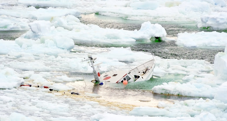 Mar Sem Fim é destaque na mídia internacional, Imagem do mar-sem-fim-preso-no-gelo