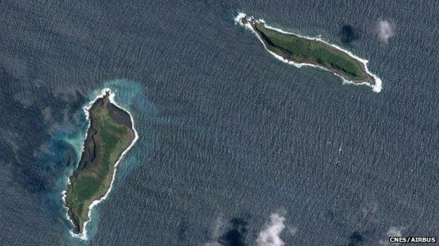 nova ilha no Pacífico