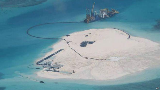 China está aterrando corais