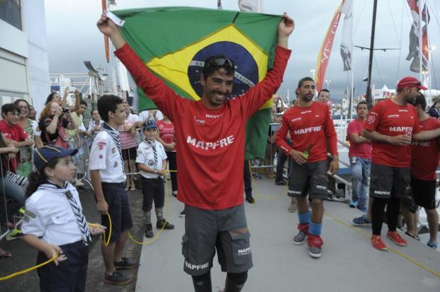 Brasileiro na Volvo Ocean Race, imagem de André Fonseca que participou da volvo ocean race