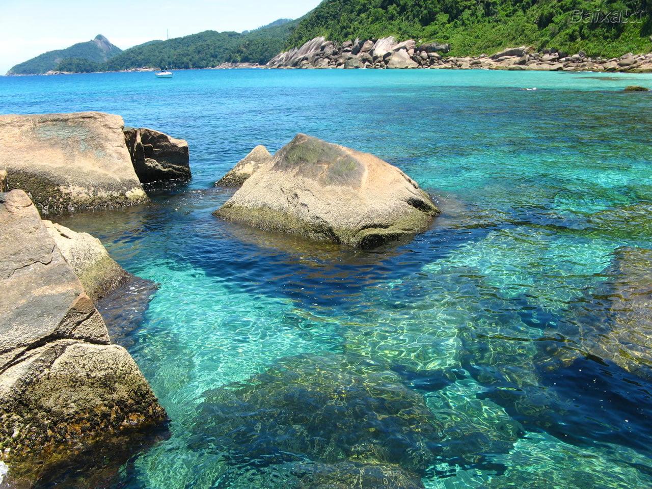 Ilha Grande pretende cobrar visita, imagem de ilha Garnde