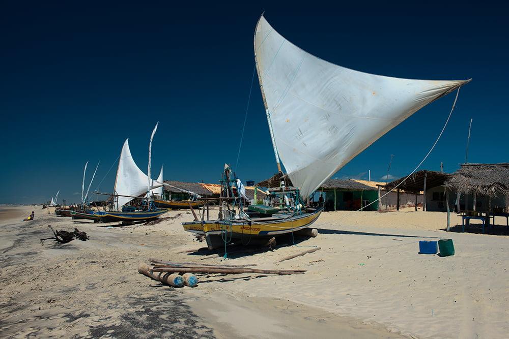 Resex Batoque, imagem de ranchos de pescadores