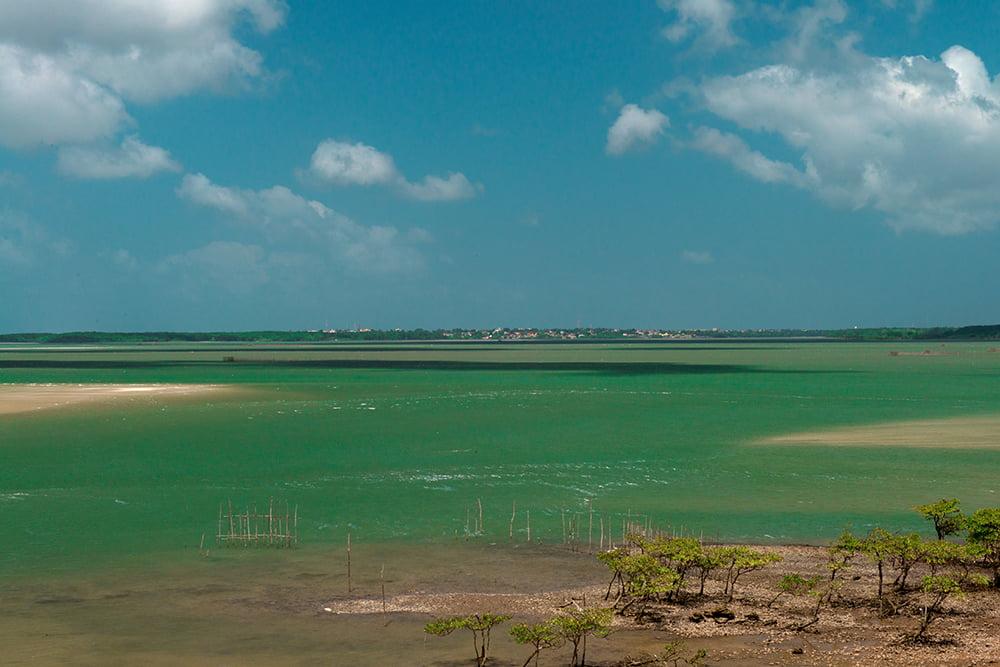 Resex Maracanã e Resex Chocoaré Mato Grosso, imagem da baía de Salinópolis