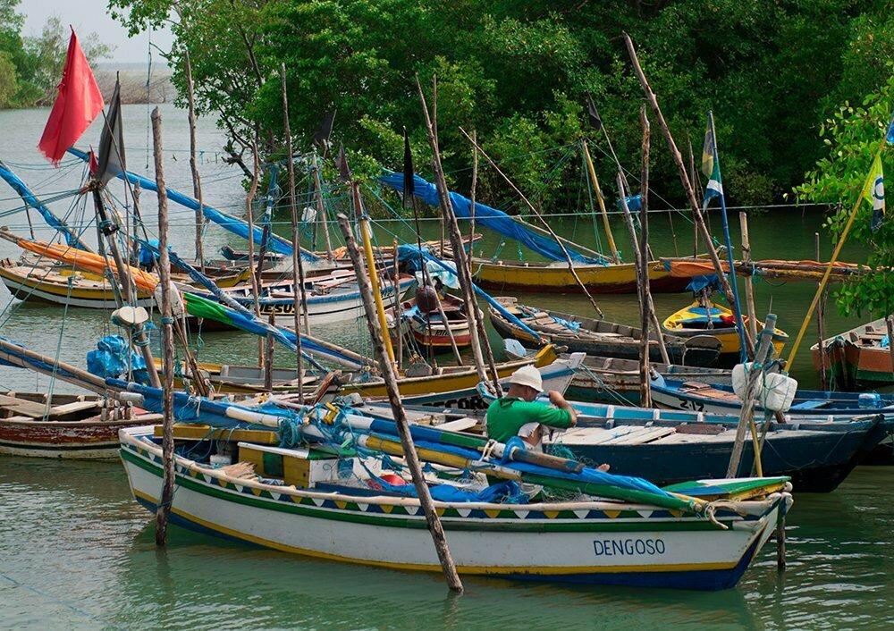 Resex Caeté Taperaçu, imagem de porto de pescadores
