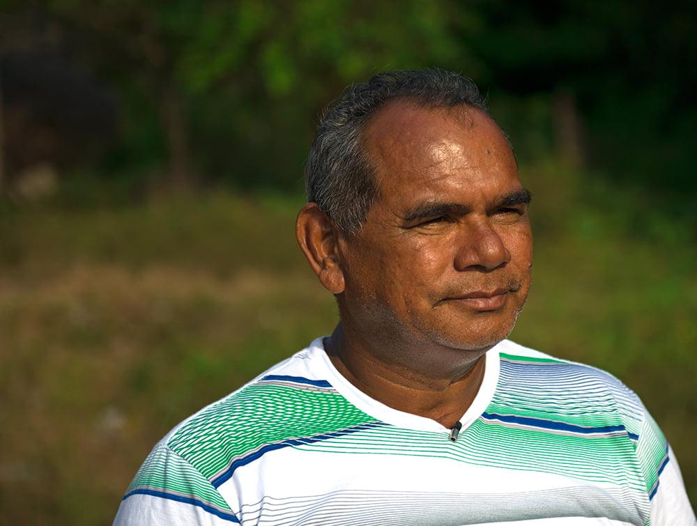 José Carlos, presidente da Associação dos usuários da Resex, imagem de Bilica, coordenador do polo de Limondeua