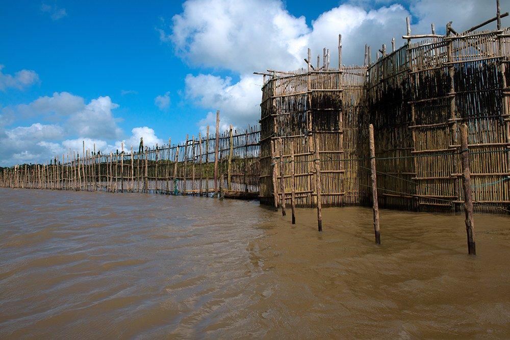 Resex Caeté Taperaçu, imagem de cerco no rio